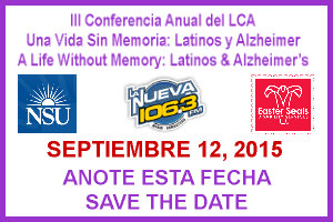 Conferencia sobre Alzheimer y Latinos, Septiembre 12, 2015