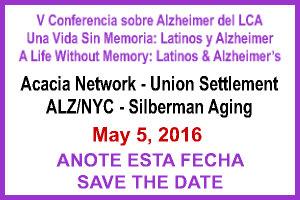 Conferencia sobre Alzheimer y Latinos, 5 de Mayo de 2016