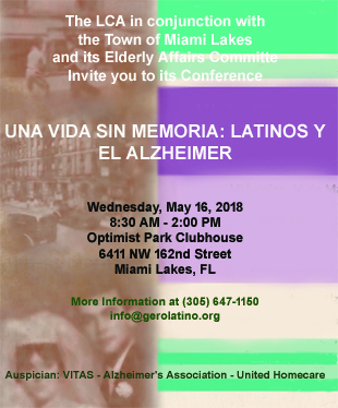 Conference on Alzheimer's - May 16, 2018